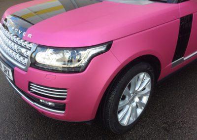 Pink Range Rover Wrap