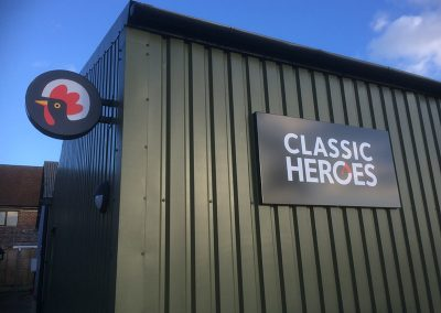 Classic Heroes Sign 2