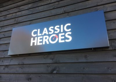 Classic Heroes Sign
